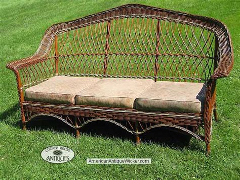 antique wicker sofa with springs corner house antiques