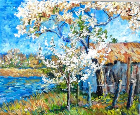 spring paint how to paint a spring landscape like the impressionists a step by step tutorial youtube