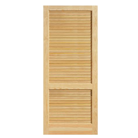 Solid Wood Louvered Doors Interior Shop Reliabilt Louvered Solid No Skin Non Bored Interior Slab Door Common 36 In X 80 In