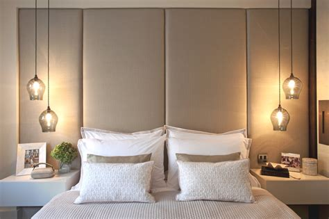 hanging wall lights bedroom love this stunning lights and the big headboard looks