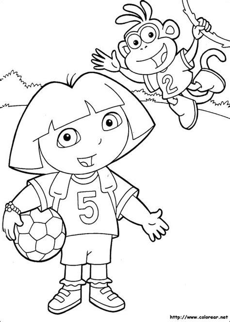 dora soccer coloring pages dibujos para colorear de dora la exploradora