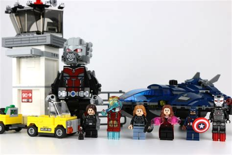 Lego Marvel Heroes 76051 Airport Battle quot the avenger civil war quot lego sets rund um captain america im check zusammengebaut
