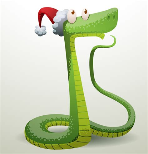 new year animal snake new year snake 2013 design vector set 05 vector animal