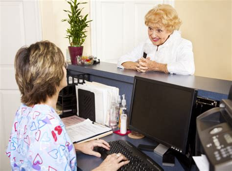 receptionist salary healthcare salary world