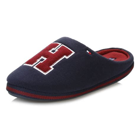 hilfiger mens slippers hilfiger mens navy corwall slippers textile