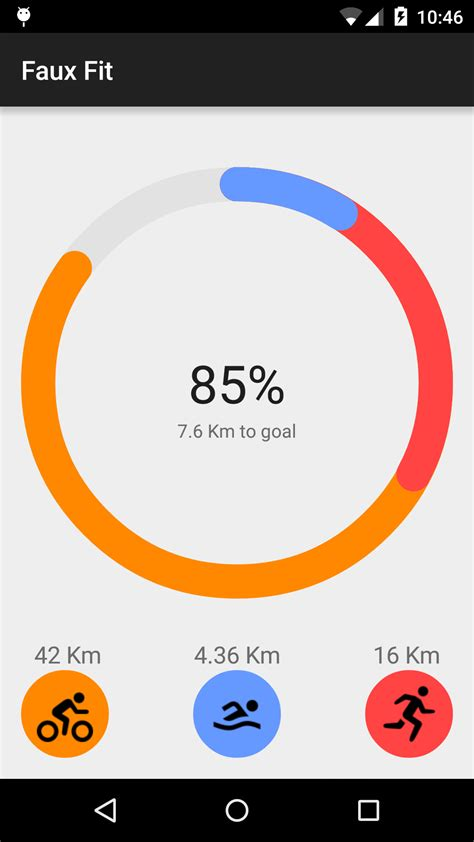 circular layout in android exle creating a google fit style circular animated view