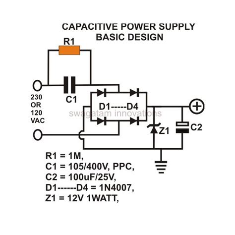 how capacitor works in power supply transformerless power supply