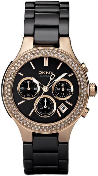 Dkny Dk034 Black Rosegold dkny black ceramic and gold chronograph ny4984