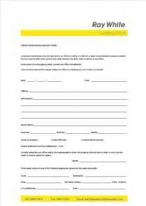 apartment maintenance request form template maintenance request form template