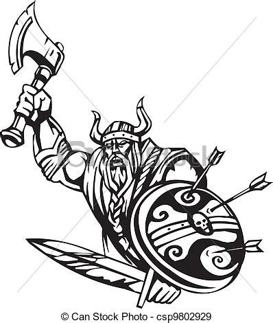 eps vectors of nordic viking vector illustration vinyl