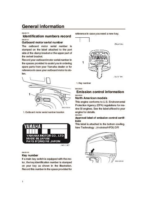 yamaha boat motor manual 2004 yamaha outboard vz300c boat motor owners manual