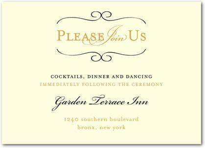 wedding invitation reception card exles wedding reception card wording search wedding