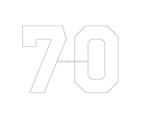 printable jersey number stencils free jersey printable 70 number stencil
