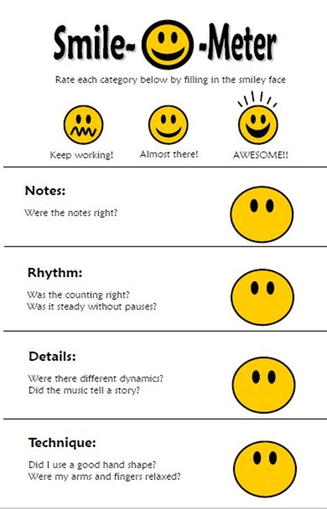 smile templates for cards new smile o meter cards pianimation