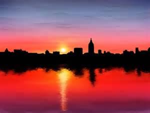 depression sun l depression in sunset city