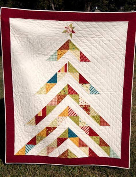 christmas tree quilt needle thread pinterest