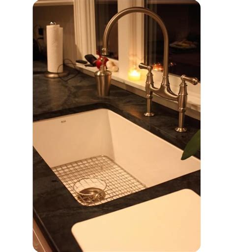 allia fireclay single bowl undermount kitchen sink rohl 6307 68 allia 31 5 8 quot single bowl undermount fireclay
