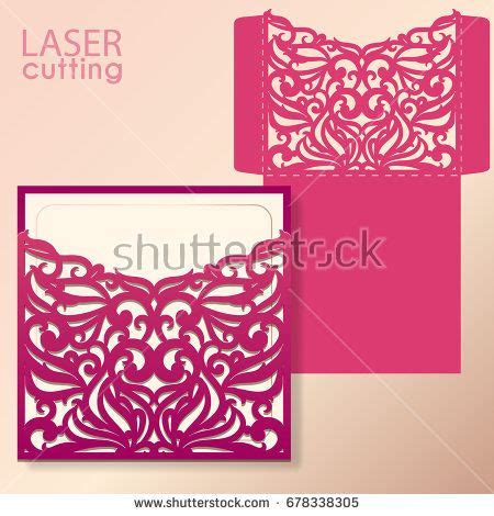 rom invitation card design die laser cut wedding card vector template invitation
