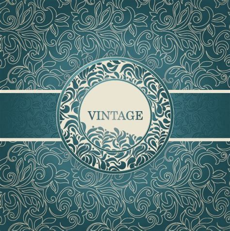 floral pattern background free vector floral decorative pattern vintage background vector 02
