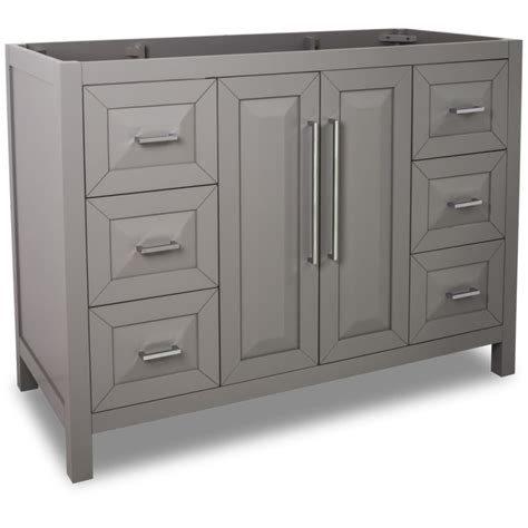 48 inch bathroom vanity cabinet only jeffrey alexander van100 48 grey cade contempo collection
