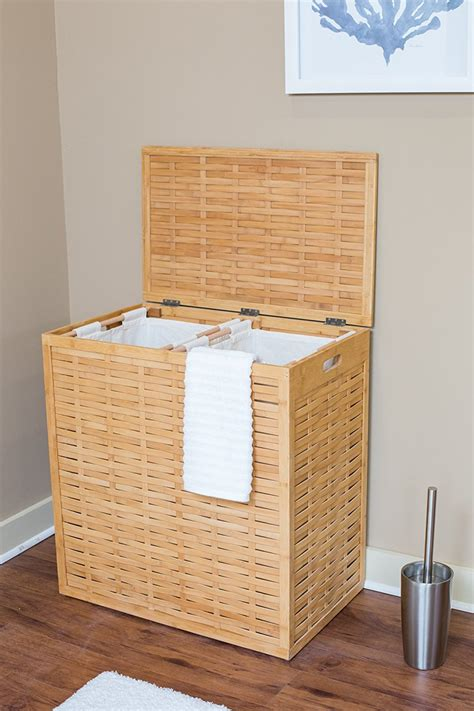 Rattan Divided Laundry Her Sierra Laundry Wicker Laundry Divided