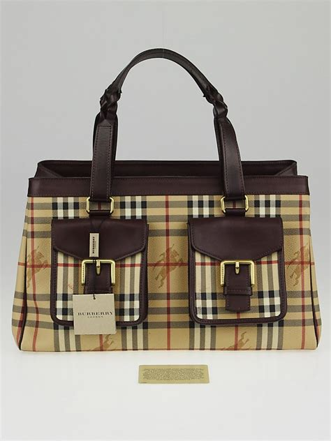 Burberry Check Canvas Tote by Burberry Haymarket Check Coated Canvas Tote Bag Yoogi S