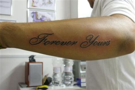forever yours tattoo scrita forever yours jpg studio roma the