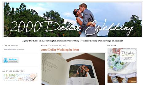 Wedding Budget 2000 by Budget Wedding Blogs Books Mid South
