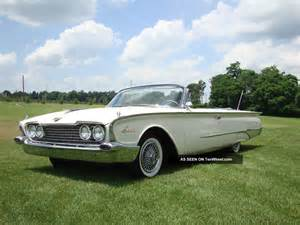 1960 ford sunliner convertible car