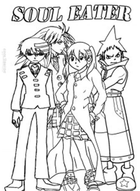 printable soul eater coloring pages  kids coolbkids