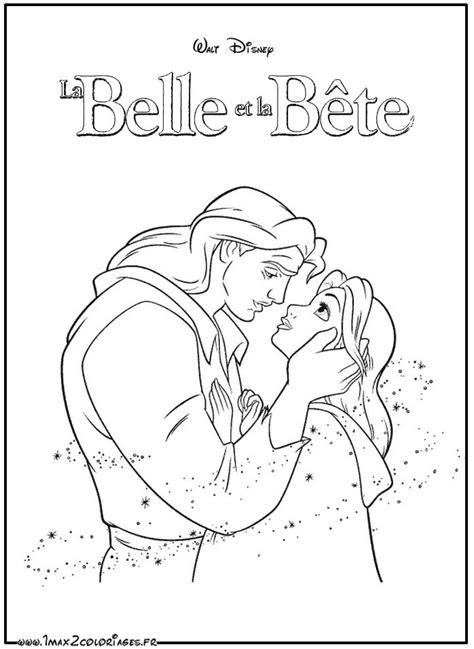 Coloriages Du Film La Belle Et La B 234 Te De Walt Disney Un
