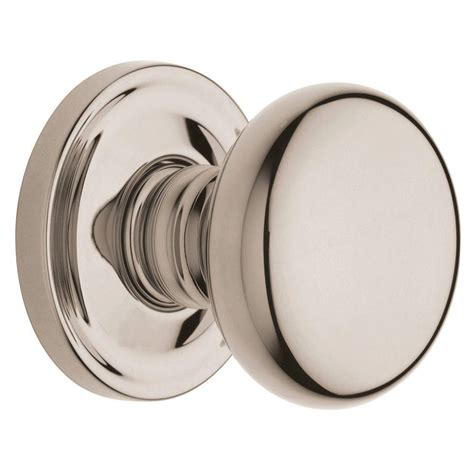 interior door knobs home depot baldwin estate classic lifetime polished nickel half dummy