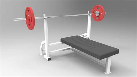 bench press modells chest press bench press barbell gym step iges