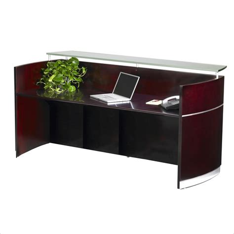 Reception Office Desks Mayline Napoli Reception Desk Macbride Office Furniture
