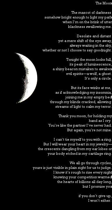An introspective poem about the moon. | Poetry | Moon