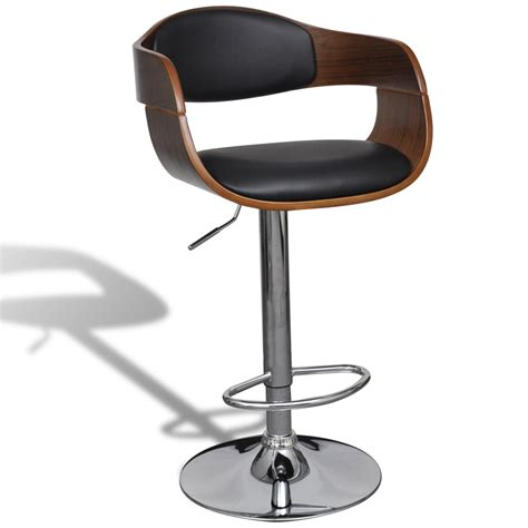 Bar Stool With Backrest Vidaxl Co Uk Adjustable Swivel Bar Stool Leather With Backrest