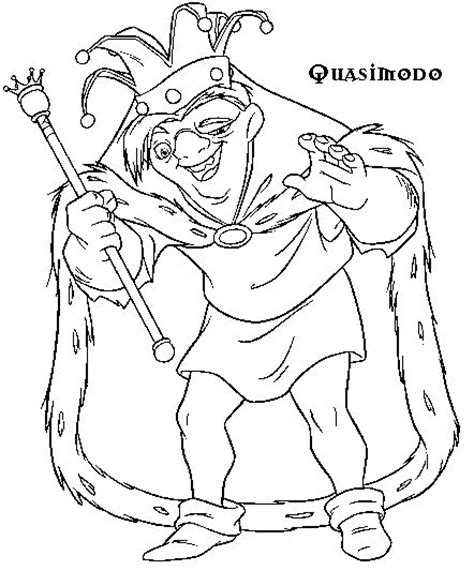 coloring page the hunchback of the notre dame coloring