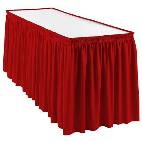 snap drape wyn1v1329 red wyndham 13 ft table skirt