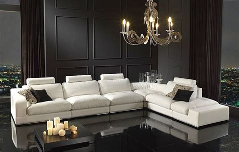 fabio modern living room set modern italian genuine leather l shaped sectional sofa set