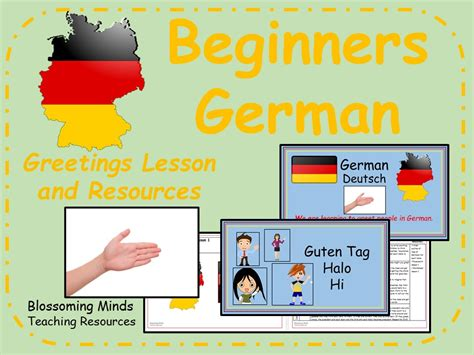 german lesson  resources  lesson  blossomingminds teaching resources