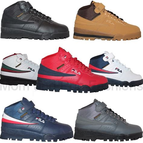 mens sneaker boot mens fila f13 f 13 mid high top weather tech sneaker boots