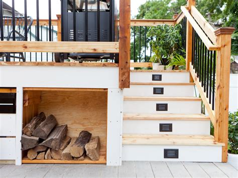 creative deck storage ideas integrating storage