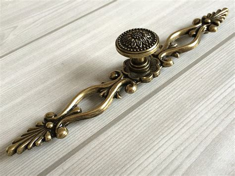 rustic kitchen cabinet handles 6 3 quot large drawer pulls handles antique bronze sunflower