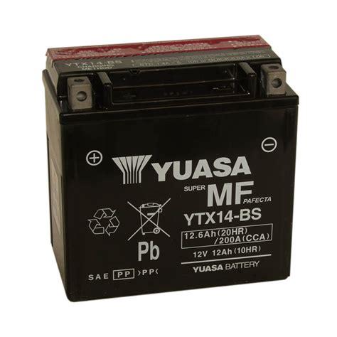 Yuasa YTX14 BS Battery   Stealth Motorcycles