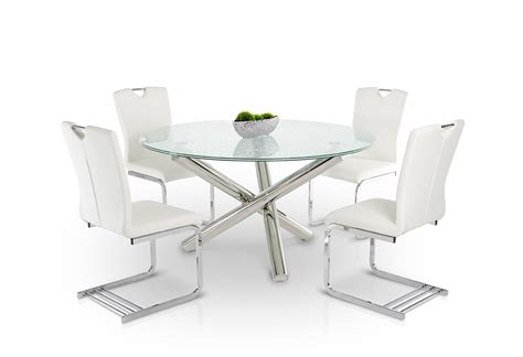 frau modern round dining table modern round cracked glass dining tabl with inch square