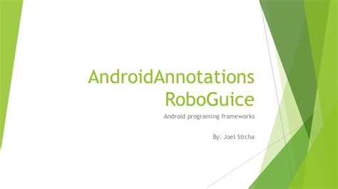 android annotations android annotations and roboguice
