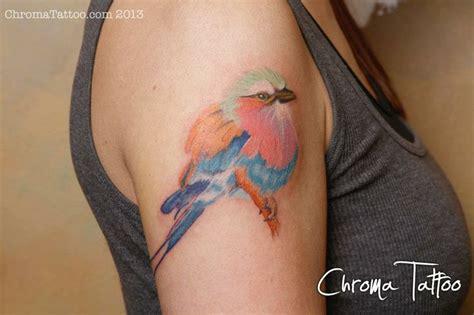 tattoo ink kenya my lilac breasted roller national bird of kenya chroma