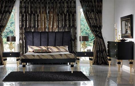 Magnus Black And Gold Leaf Bedroom Set Collection Gold Leaf Bedroom Furniture