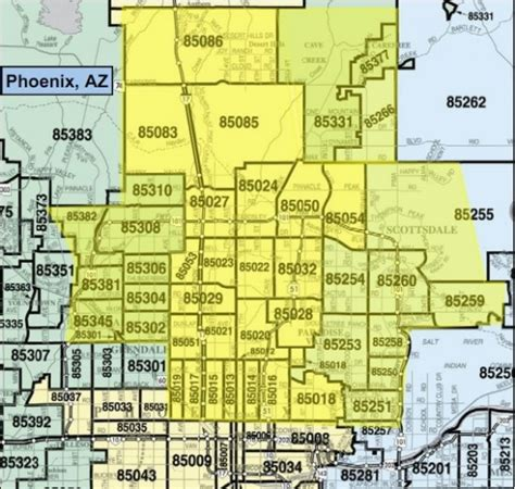 zip code maps phoenix usps zip code map phoenix az archives top image gallery