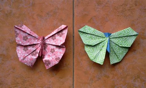 How To Make A Butterfly On Paper - how to make origami butterfly viyoutube